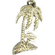 Vintage Sterling Palm Tree Jamaica Charm