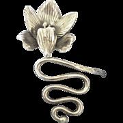 Stunning Vintage Sterling Artistic Flower Bracelet- 24 Grams
