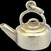 Adorable Vintage Sterling Tea Kettle Charm