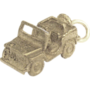 Vintage Sterling U.S. Army Military Jeep- WWII