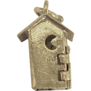 Vintage Sterling Out House Mechanical Charm