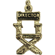 "Vintage Sterling ""Universal Studios"" Director's Chair Charm"