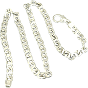 "Attractive Italian Sterling Curb Link 20"" Chain- 57 Grams"