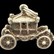 Vintage Royal Sterling Silver Coach Charm