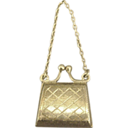 Charming Vintage Mechanical Sterling Purse Pendant