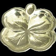 Vintage Sterling 4 Leaf Clover Sterling Ashtray Dish