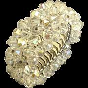 Sparkling Vintage Cha Cha AB Crystal Glass Bead Expansion Bracelet