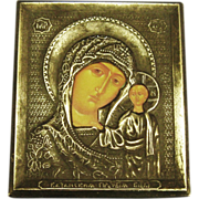 SOLD Vintage Orthodox Madonna with Child Miniature Religious Icon