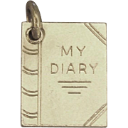 "Vintage Sterling ""My Diary"" Charm"