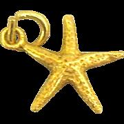 Vintage 14K Starfish Charm