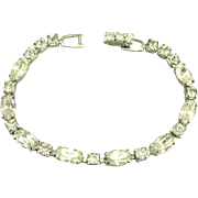 Vintage Weiss Sparkling Clear Rhinestone Bracelet