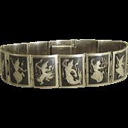 Vintage Niello Goddess Bracelet- Siam
