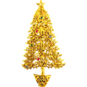 Vintage Tancer II Rhinestone Christmas Tree Pin