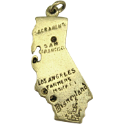Vintage Sterling California State Charm