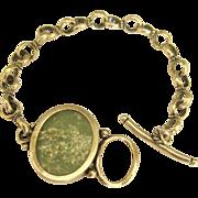 Gorgeous Roman Glass Sterling Silver Bracelet