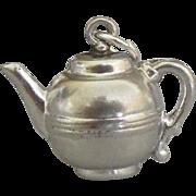Adorable Sterling Tea Pot Charm