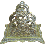 Ornate English 1880 Victorian Letter Holder
