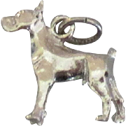 Sterling Boxer Dog Charm