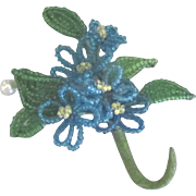 Lovely Vintage Beaded Floral Corsage Brooch Embellishment
