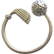 Vintage Large Sterling Golf Club and Ball Key Ring