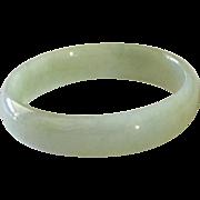 Beautiful Vintage Chinese Jade Bangle Bracelet- Size Small