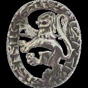 Vintage Sterling Scotland Lion Crest Brooch