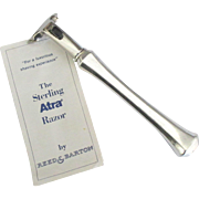 Handsome Vintage Reed and Barton Sterling Shaving Razor in Box
