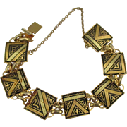 Lovely Vintage Spanish Damascene Bracelet