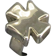 Chunky Bold Sterling Maltese Cross Ring