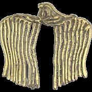 Artistic Brass Ornamental Hair Comb