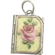 Pretty Vintage Rose Guilloche Gold Fill Locket