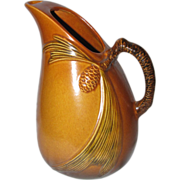 Roseville Pottery Pinecone Pitcher