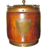 Oak Humidor : Biscuit Jar