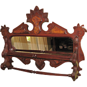 SOLD Victorian Shaving Mirror with Towel Bar