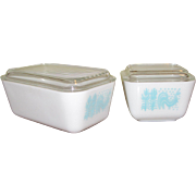 Two Pyrex Refrigerator Dishes