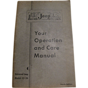 1947 Jeep Owners Manual