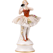 German Lace Figurine of Ballerina
