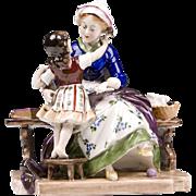 German Porcelain Figurine of Mother & Child