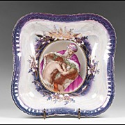 Late 19th C. German Porcelain Bowl, The Prodigal Son