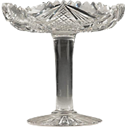 Brilliant Period Cut Glass S-Shaped Compote