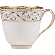 18th C. Derby Tea Cup With Scalloped Rim