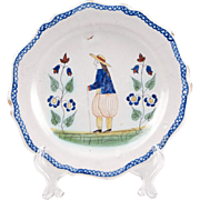 French Faience Quimper Style Plate