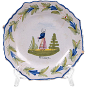 1900 Era HB Quimper Plate