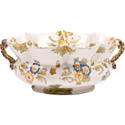 1900 Circa Cantagalli Crimped Edge Serving Bowl