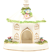 Coalport Bone China Cottage, The Umbrella House Pastille Burner