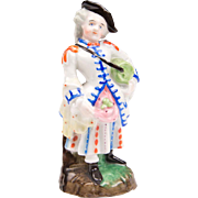 19th C. English Porcelain Figurine Of Scottish Lass