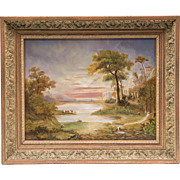 SOLD Vintage Landscape Oil Painting On Board