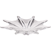 Vintage Baccarat 8 Point Crystal Starfish Bowl