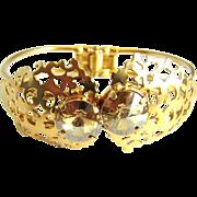 SALE Designs by Ali Matte Gold Plated Brass with Golden Shadow Swarovski Bracelet