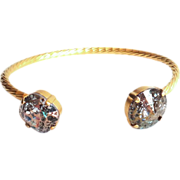 SOLD Designs by Ali Matte Gold Plated Brass with Rose Patina and Gold Patina Swarovski Bracele